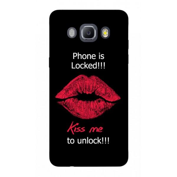 Husa Silicon Soft Upzz Print Samsung J5 2016 Model Kiss imagine itelmobile.ro 2021