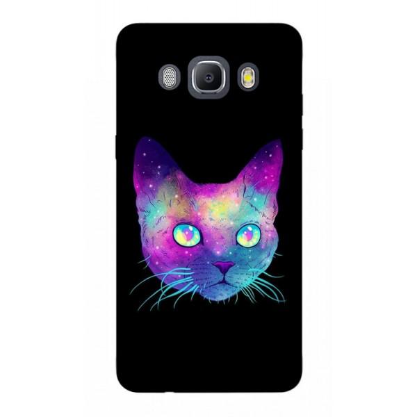 Husa Silicon Soft Upzz Print Samsung J5 2016 Model Neon Cat imagine itelmobile.ro 2021