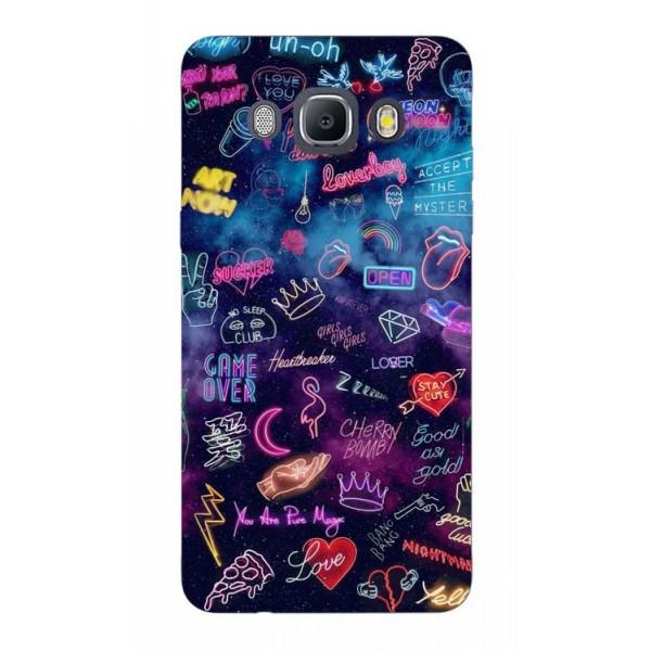 Husa Silicon Soft Upzz Print Samsung J5 2016 Model Neon imagine itelmobile.ro 2021