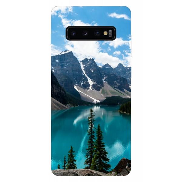Husa Silicon Soft Upzz Print Samsung Galaxy S10 Model Blue imagine itelmobile.ro 2021