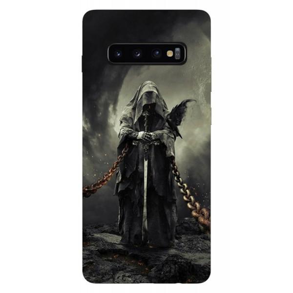 Husa Silicon Soft Upzz Print Samsung Galaxy S10 Model Chains imagine itelmobile.ro 2021