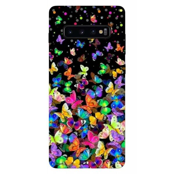 Husa Silicon Soft Upzz Print Samsung Galaxy S10 Model Colorature imagine itelmobile.ro 2021