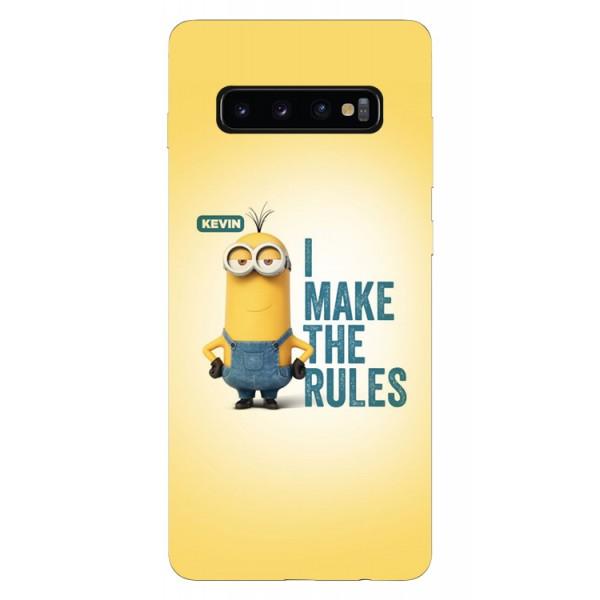 Husa Silicon Soft Upzz Print Samsung Galaxy S10 Model Kevin imagine itelmobile.ro 2021