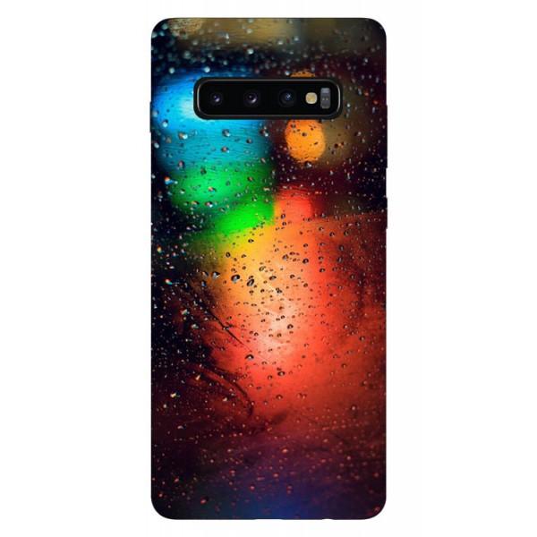 Husa Silicon Soft Upzz Print Samsung Galaxy S10 Model Multicolor imagine itelmobile.ro 2021