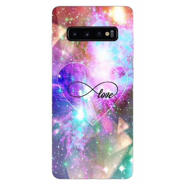 Husa Silicon Soft Upzz Print Samsung Galaxy S10 Model Neon Love imagine itelmobile.ro 2021