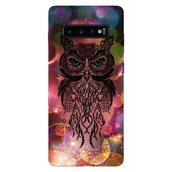 Husa Silicon Soft Upzz Print Samsung Galaxy S10 Model Sparkle Owl imagine itelmobile.ro 2021