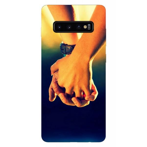 Husa Silicon Soft Upzz Print Samsung Galaxy S10 Model Together imagine itelmobile.ro 2021