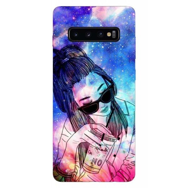 Husa Silicon Soft Upzz Print Samsung Galaxy S10 Model Universe Girl imagine itelmobile.ro 2021