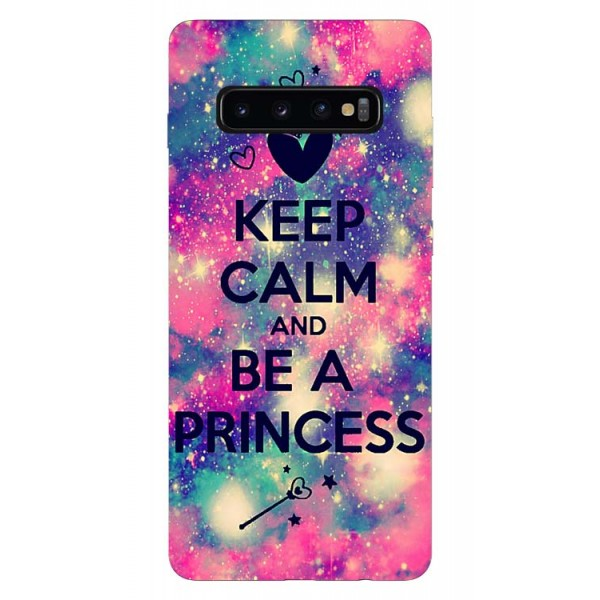Husa Silicon Soft Upzz Print Samsung Galaxy S10 Plus Model Be Princess imagine itelmobile.ro 2021