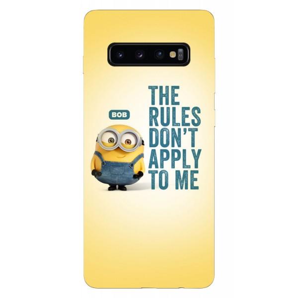 Husa Silicon Soft Upzz Print Samsung Galaxy S10 Plus Model Bob imagine itelmobile.ro 2021