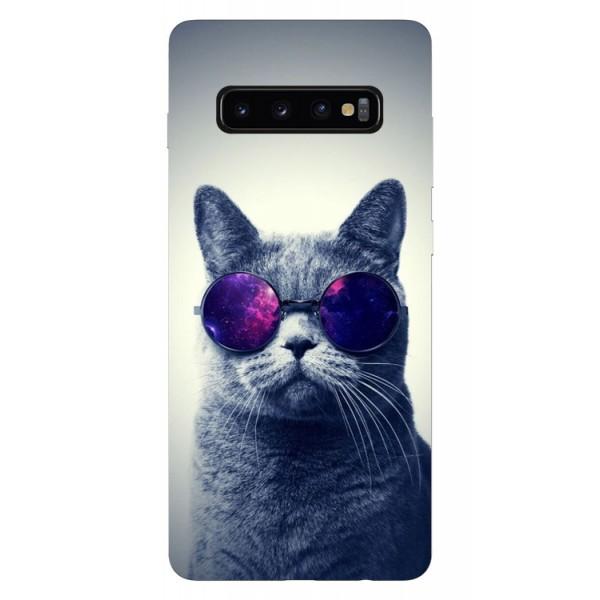Husa Silicon Soft Upzz Print Samsung Galaxy S10 Plus Model Cool Cat imagine itelmobile.ro 2021