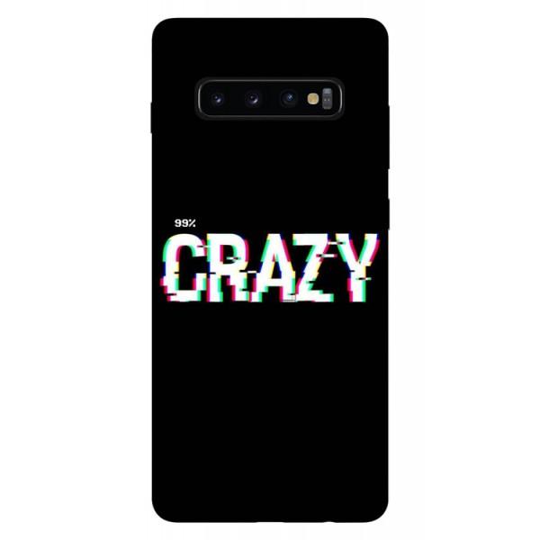 Husa Silicon Soft Upzz Print Samsung Galaxy S10 Plus Model Crazy imagine itelmobile.ro 2021