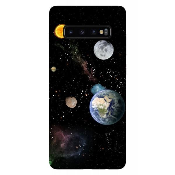 Husa Silicon Soft Upzz Print Samsung Galaxy S10 Plus Model Earth imagine itelmobile.ro 2021
