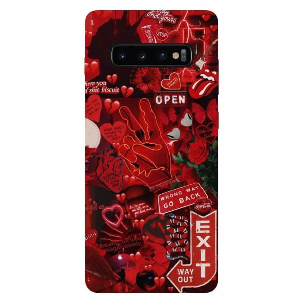 Husa Silicon Soft Upzz Print Samsung Galaxy S10 Plus Model Exit imagine itelmobile.ro 2021