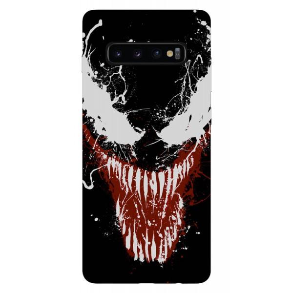 Husa Silicon Soft Upzz Print Samsung Galaxy S10 Plus Model Monster imagine itelmobile.ro 2021