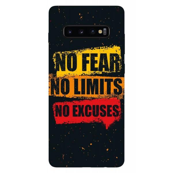 Husa Silicon Soft Upzz Print Samsung Galaxy S10 Plus Model No Fear imagine itelmobile.ro 2021
