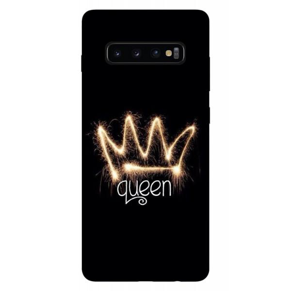 Husa Silicon Soft Upzz Print Samsung Galaxy S10 Plus Model Queen imagine itelmobile.ro 2021