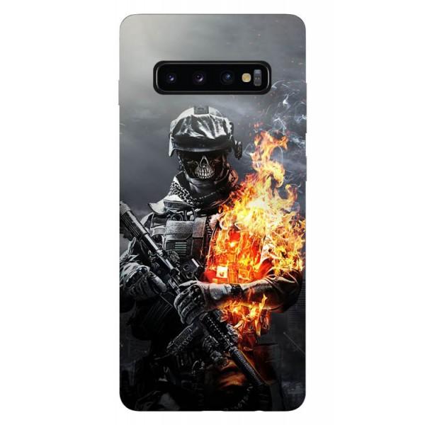 Husa Silicon Soft Upzz Print Samsung Galaxy S10 Plus Model Soldier imagine itelmobile.ro 2021