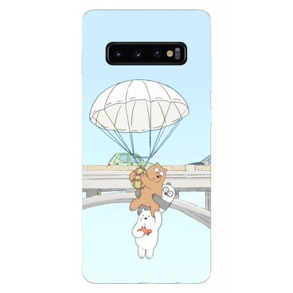 Husa Silicon Soft Upzz Print Samsung Galaxy S10 Plus Model Three Bears imagine itelmobile.ro 2021