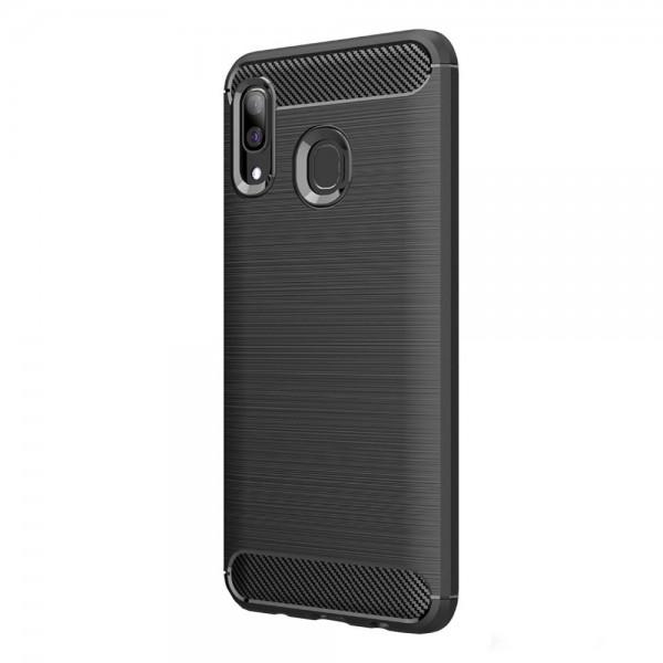 Husa Carbon Upzz Case Anti-shock Samsung Galaxy M20 Negru imagine itelmobile.ro 2021