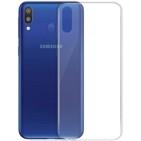 Husa Upzz Spate Ultra Slim Samsung Galaxy M20 , 0,5mm ,silicon ,transparenta imagine itelmobile.ro 2021