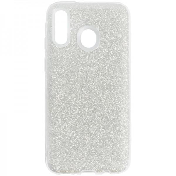 Husa Spate Upzz Shiny Lux Samsung Galaxy M20 Silver imagine itelmobile.ro 2021