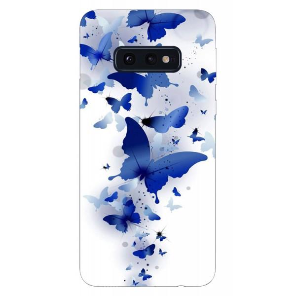Husa Silicon Soft Upzz Print Samsung Galaxy S10e Model Blue Butterflyes imagine itelmobile.ro 2021