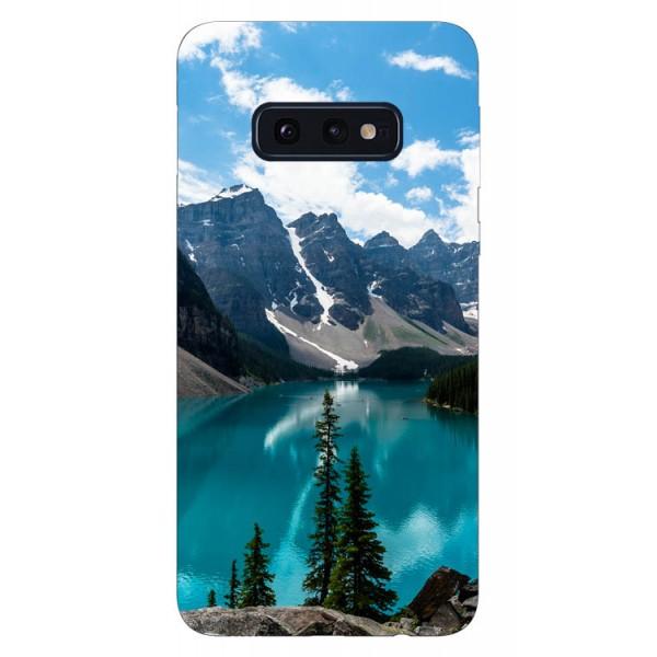 Husa Silicon Soft Upzz Print Samsung Galaxy S10e Model Blue imagine itelmobile.ro 2021