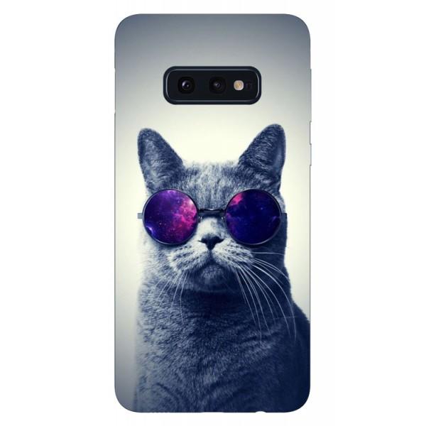 Husa Silicon Soft Upzz Print Samsung Galaxy S10e Model Cool Cat imagine itelmobile.ro 2021