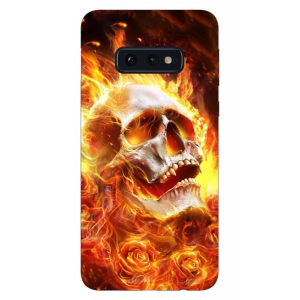Husa Silicon Soft Upzz Print Samsung Galaxy S10e Model Flame Skull imagine itelmobile.ro 2021