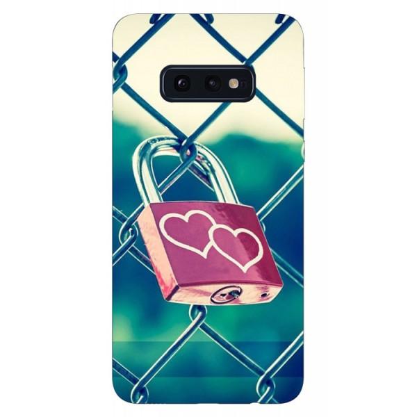 Husa Silicon Soft Upzz Print Samsung Galaxy S10e Model Heart Lock imagine itelmobile.ro 2021