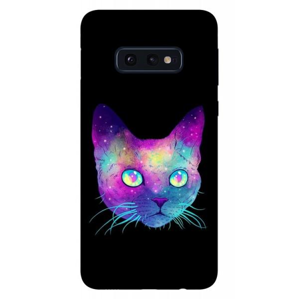 Husa Silicon Soft Upzz Print Samsung Galaxy S10e Model Neon Cat imagine itelmobile.ro 2021