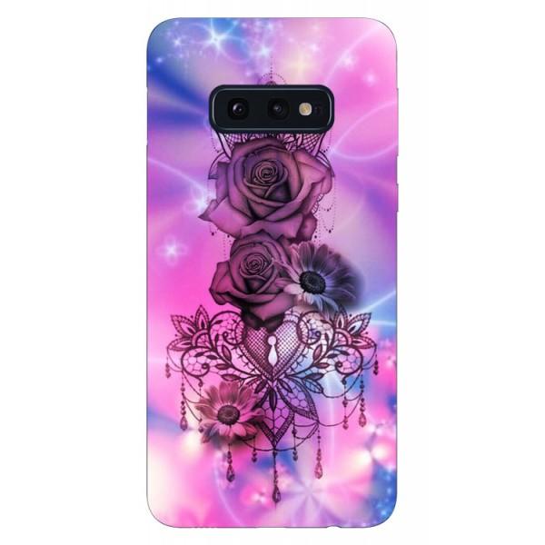 Husa Silicon Soft Upzz Print Samsung Galaxy S10e Model Neon Rose imagine itelmobile.ro 2021