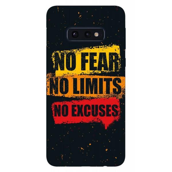 Husa Silicon Soft Upzz Print Samsung Galaxy S10e Model No Fear imagine itelmobile.ro 2021