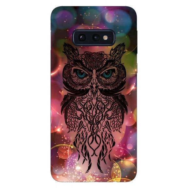 Husa Silicon Soft Upzz Print Samsung Galaxy S10e Model Sparkle Owl imagine itelmobile.ro 2021