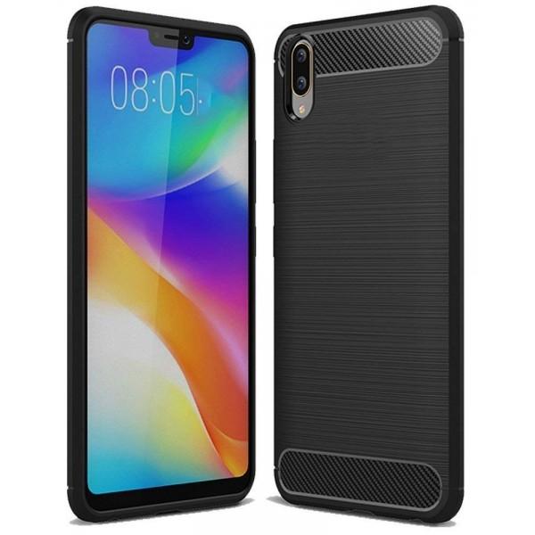Husa Spate Carbon Forcell Samsung Galaxy M10 Negru imagine itelmobile.ro 2021
