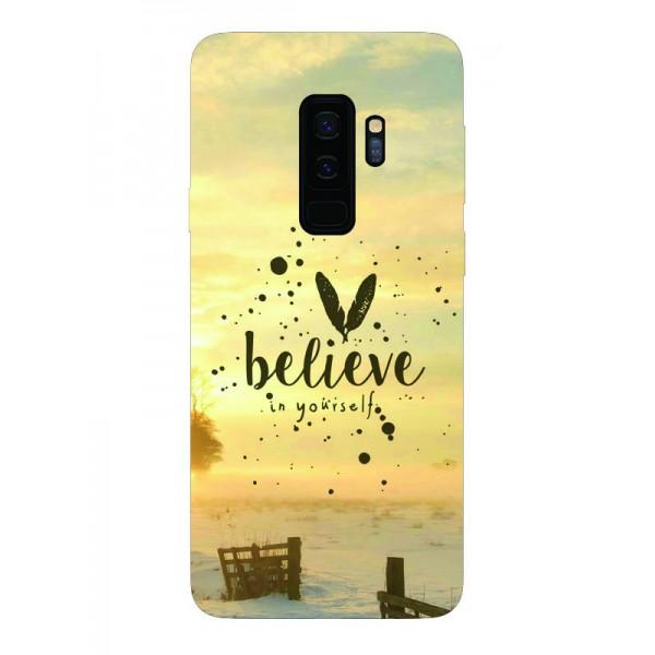 Husa Silicon Soft Upzz Print Samsung Galaxy S9+ Plus Model Believe imagine itelmobile.ro 2021