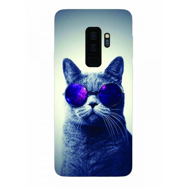 Husa Silicon Soft Upzz Print Samsung Galaxy S9+ Plus Model Cool Cat imagine itelmobile.ro 2021