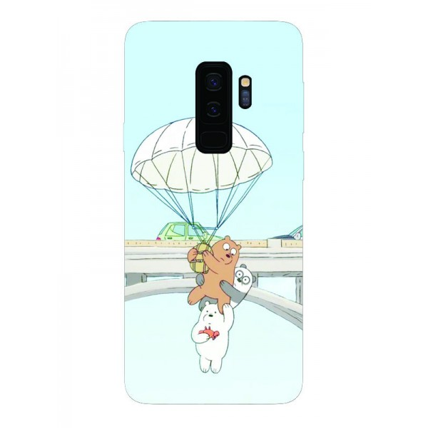 Husa Silicon Soft Upzz Print Samsung Galaxy S9+ Plus Model Three Bears imagine itelmobile.ro 2021