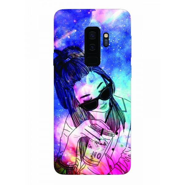 Husa Silicon Soft Upzz Print Samsung Galaxy S9+ Plus Model Univers Girl imagine itelmobile.ro 2021