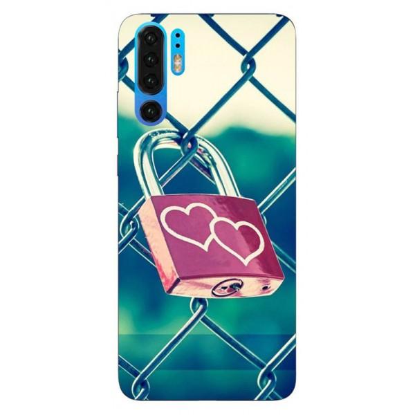 Husa Silicon Soft Upzz Print Huawei P30 Pro Model Heart Lock imagine itelmobile.ro 2021