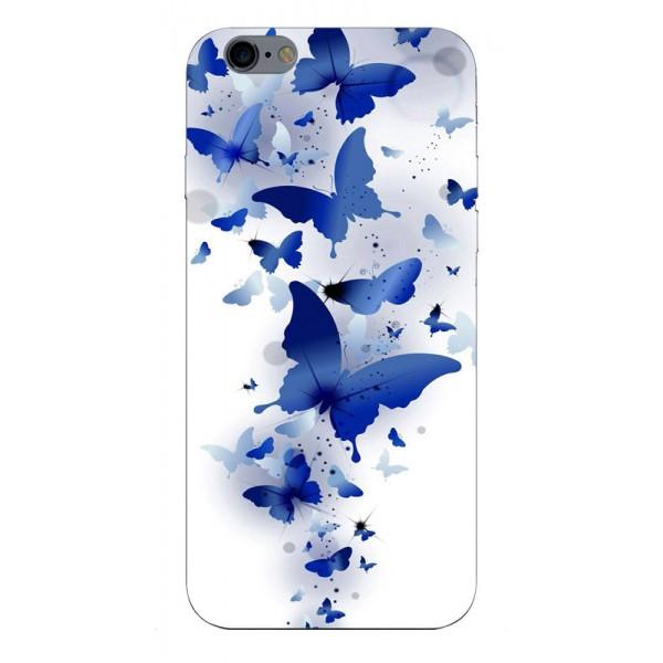 Husa Silicon Soft Upzz Print iPhone 6 / 6s Model Blue Butterflies imagine itelmobile.ro 2021