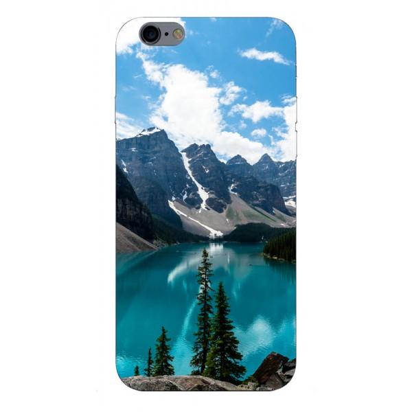 Husa Silicon Soft Upzz Print iPhone 6 / 6s Model Blue imagine itelmobile.ro 2021