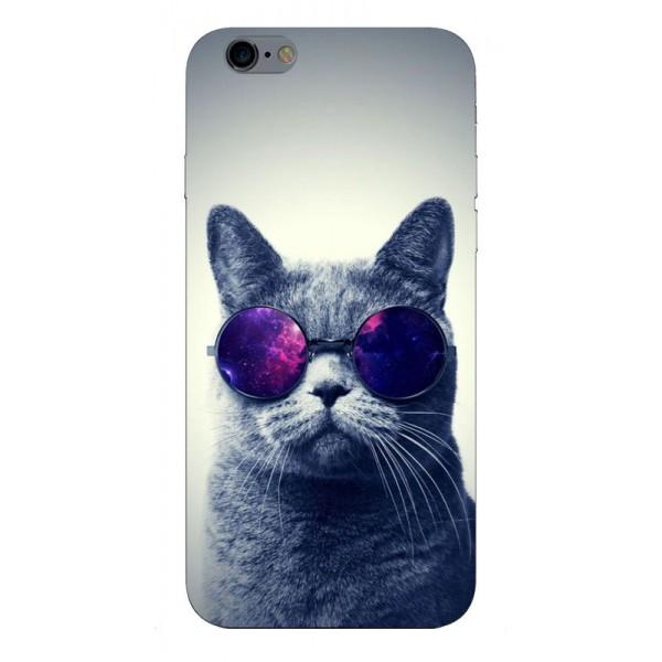 Husa Silicon Soft Upzz Print iPhone 6 / 6s Model Cool Cat imagine itelmobile.ro 2021