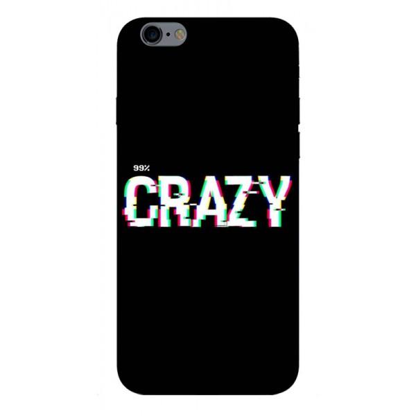 Husa Silicon Soft Upzz Print iPhone 6 / 6s Model Crazy imagine itelmobile.ro 2021