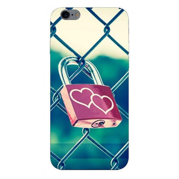 Husa Silicon Soft Upzz Print iPhone 6 / 6s Model Heart Lock imagine itelmobile.ro 2021