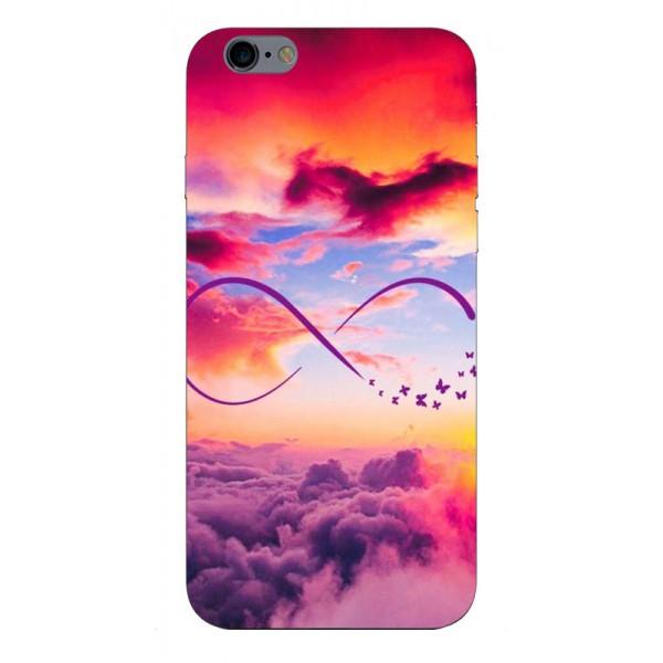 Husa Silicon Soft Upzz Print iPhone 6 / 6s Model Infinity imagine itelmobile.ro 2021