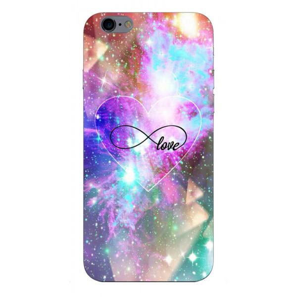 Husa Silicon Soft Upzz Print iPhone 6 / 6s Model Neon Love imagine itelmobile.ro 2021