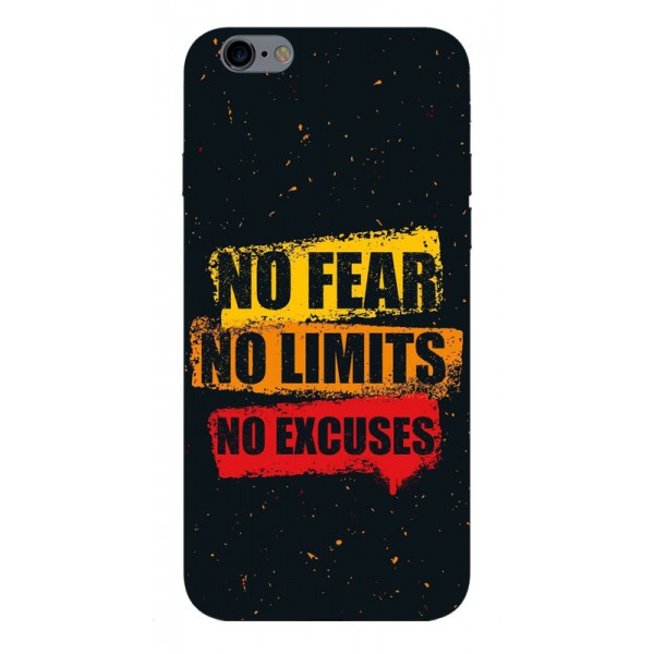 Husa Silicon Soft Upzz Print iPhone 6 / 6s Model No Fear imagine itelmobile.ro 2021
