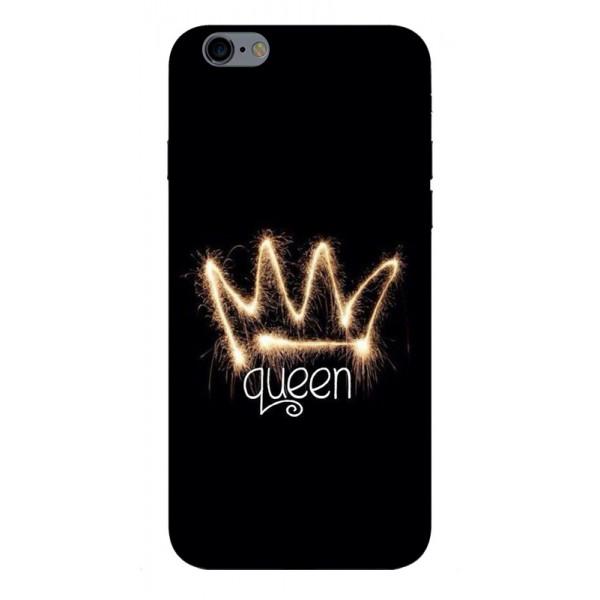 Husa Silicon Soft Upzz Print iPhone 6 / 6s Model Queen imagine itelmobile.ro 2021